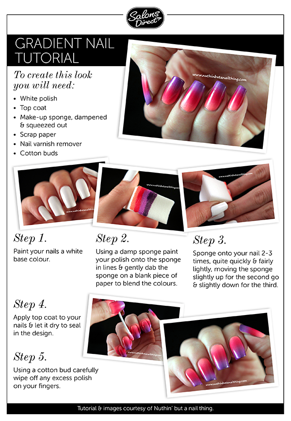 Nail Art Tutorial – Gradient Nails - Salons Direct