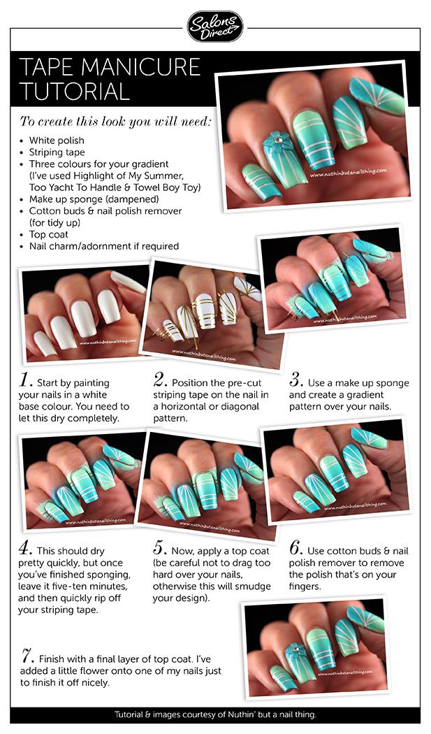 Nail Art Tutorial Tape Manicure