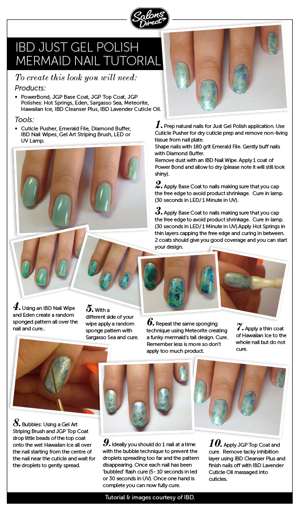 Step-by-Step Guide: Mermaid Design Nail Art - Salons Direct