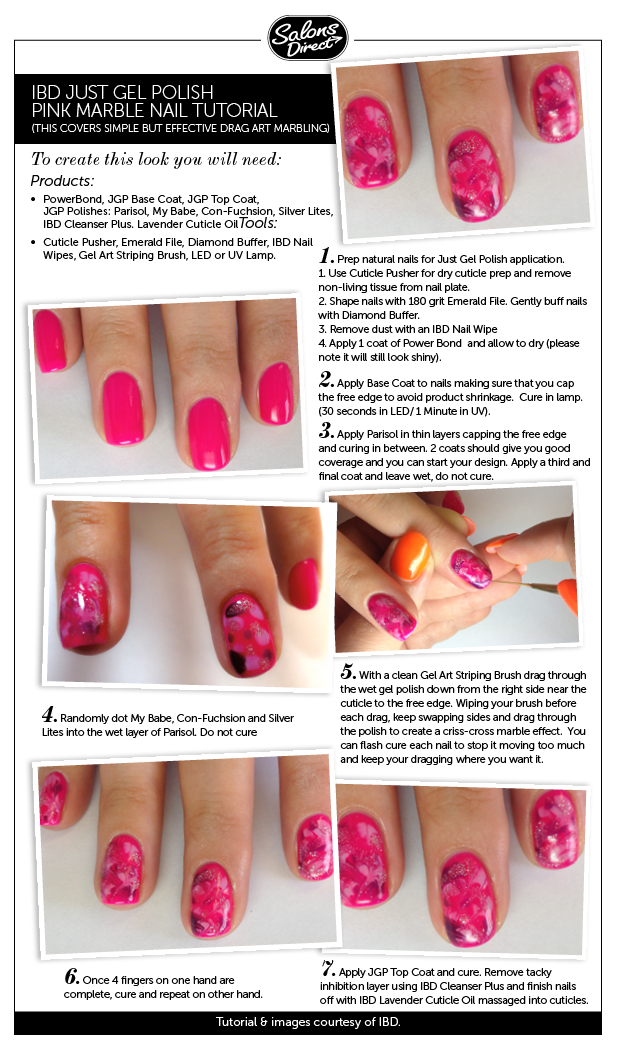 Step-by-Step Guide: Pink Marble - Salons Direct