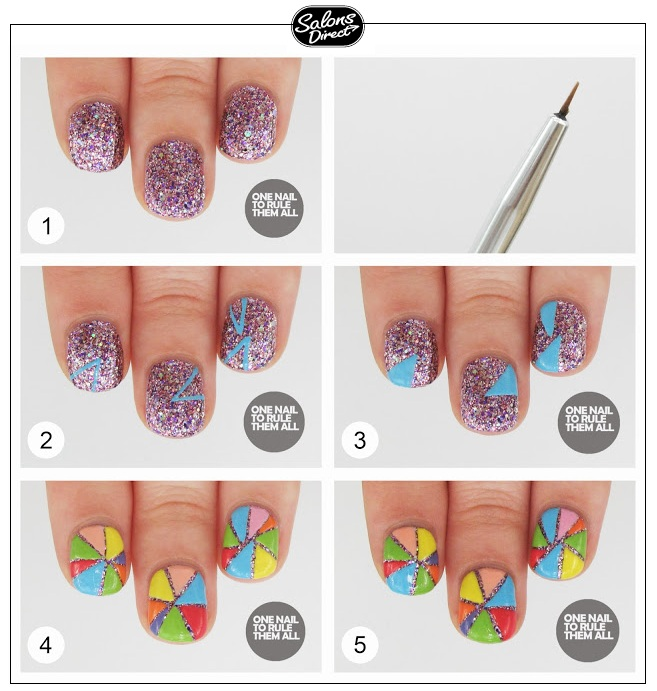 Step-by-Step Guide: Geometric Colour Nail Art - Salons Direct