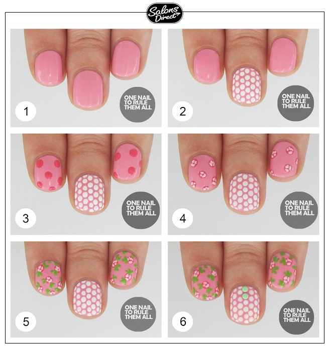 Step By Step Guide Rose Polka Dot Nail Art Salons Direct