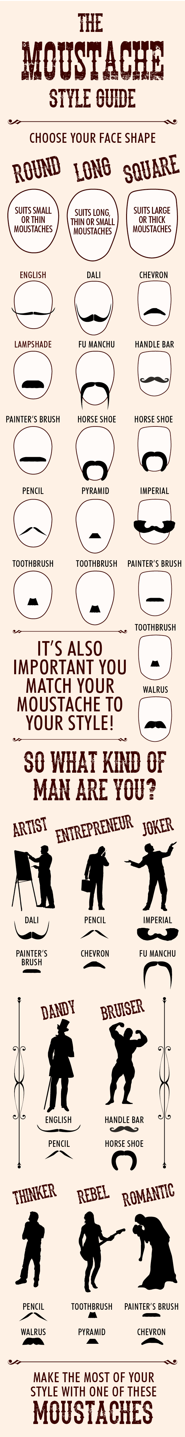 Moustache Styles Guide - Salons Direct