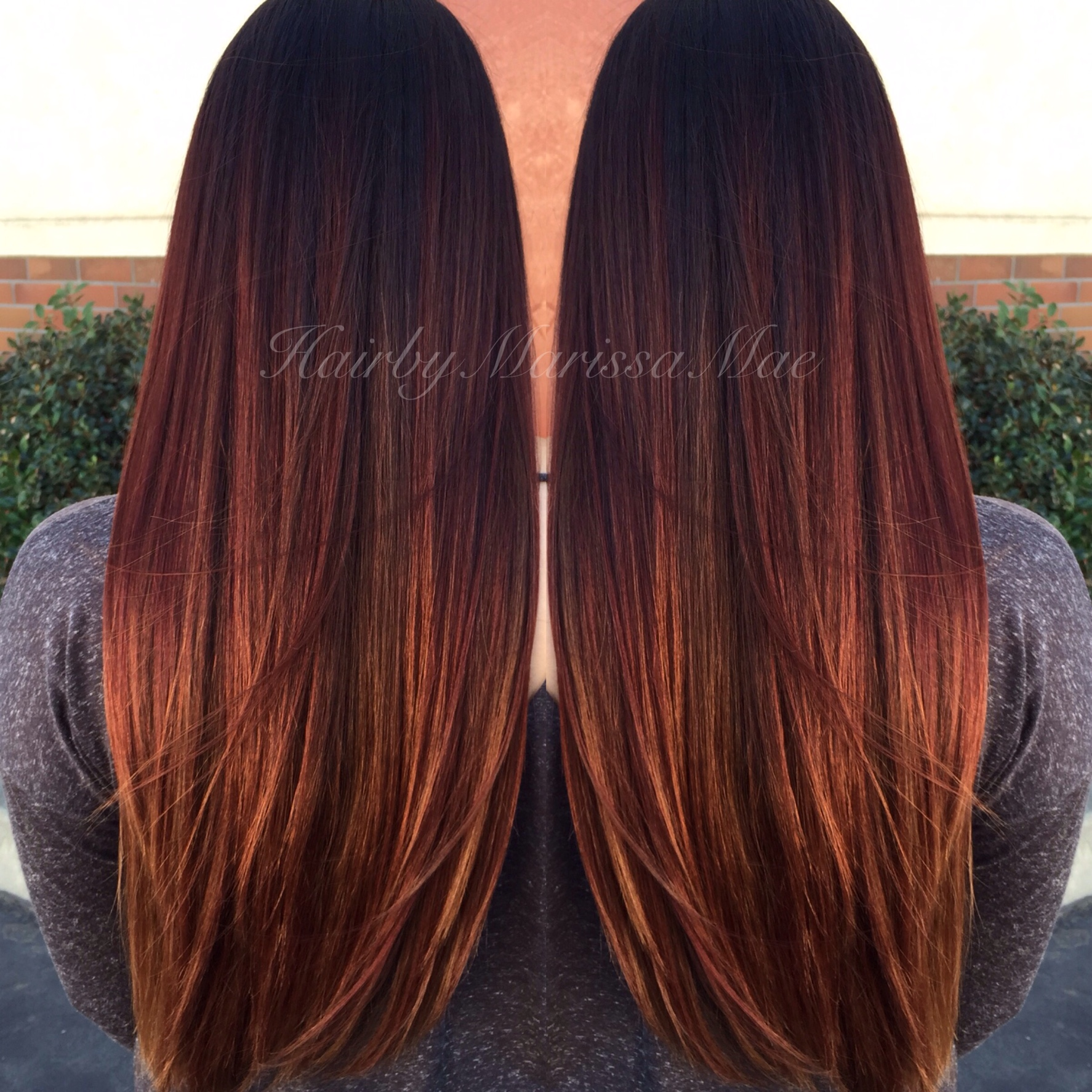 Marissa Maes Red And Golden Sombre Salons Direct