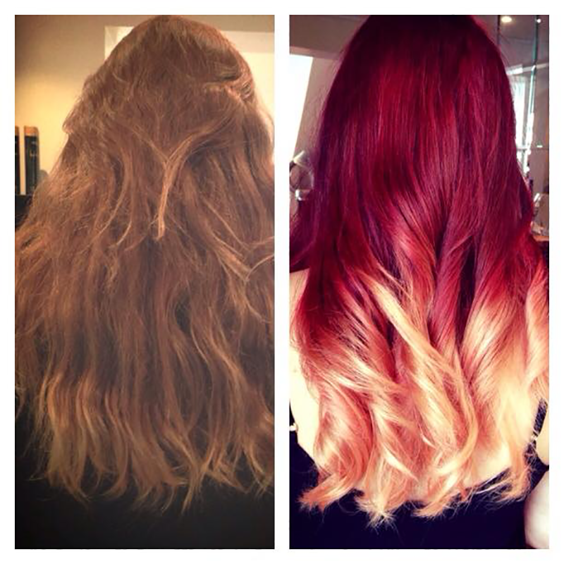 Red Into Blonde Ombre By Jody Lee Salons Direct