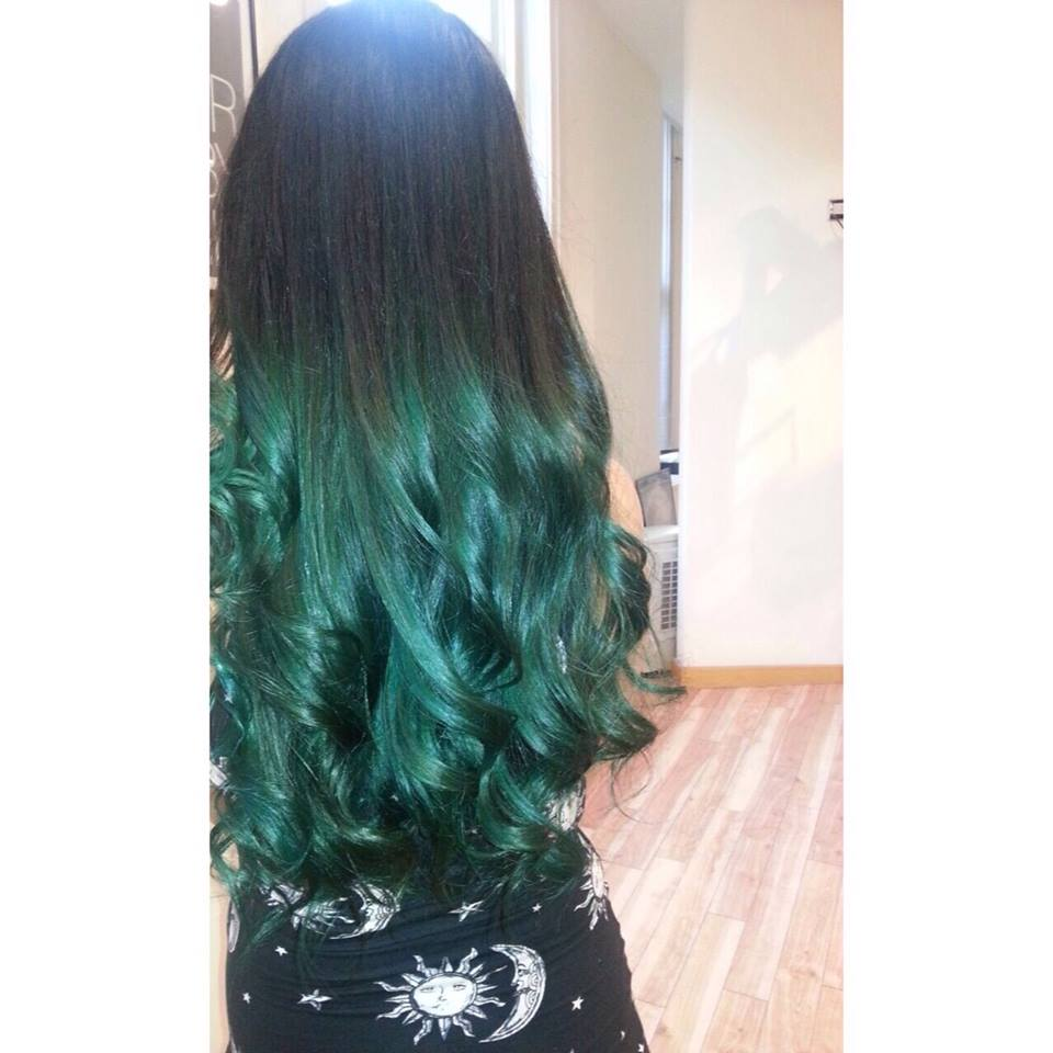 Turquoise Ombre By Mandy Taylor Salons Direct