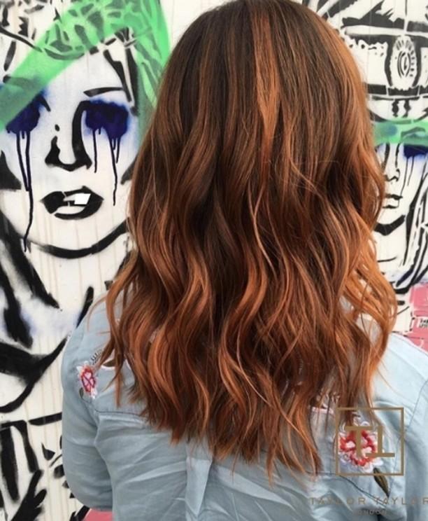 Beautiful Copper by taylortaylorlondon salonsdirect salon hairstylist hairstyle hairdressing hairdresserhellip