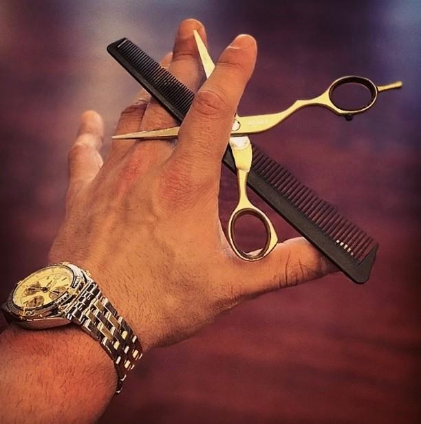 brandonmichaelm8g and his barbering essentials  Shop Jaguar Scissors athellip