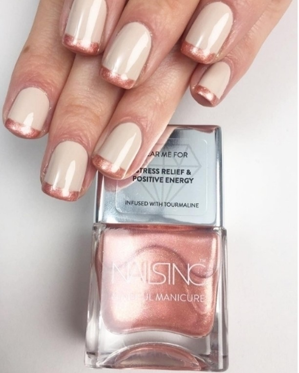 Nailsinc And breathe polish with REAL tourmaline crystals for stresshellip