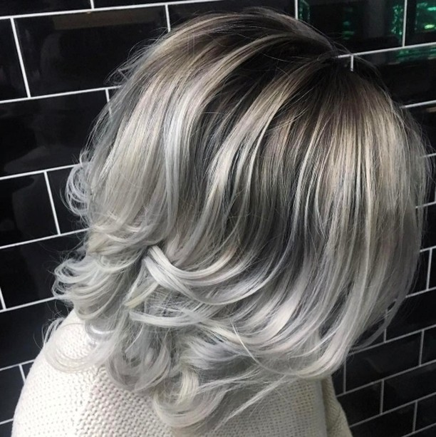 We love this rooted silver hair by badapplehair salonsdirect salonhellip