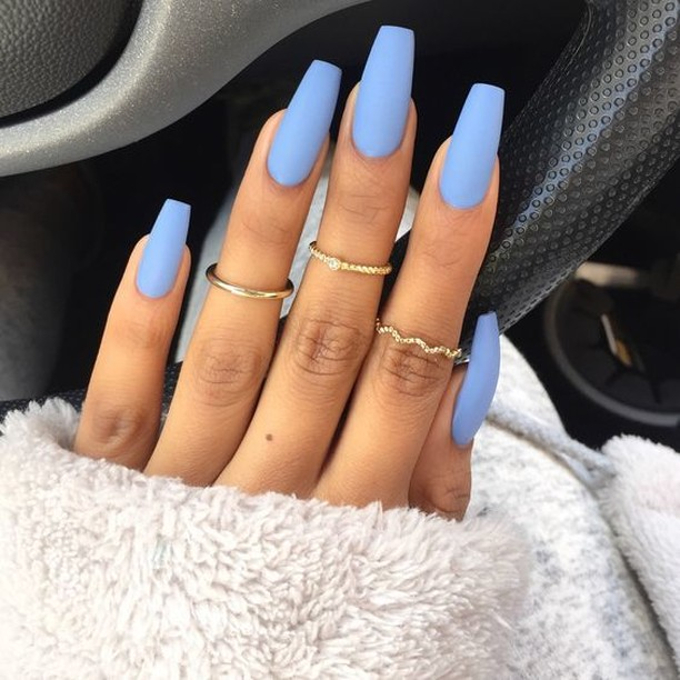 The perfect matte blue nails for spring salonsdirect salon nailshellip