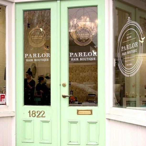 The cutest entrance to Parlour Hair Boutique salondesign salonentrance saloninteriorhellip