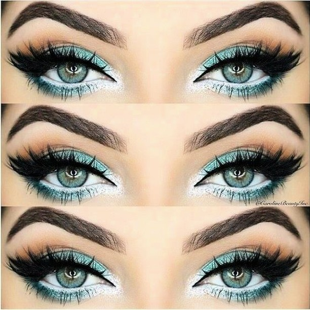 How amazing does this pop of colour look?! makeupinspo greeneyeshellip
