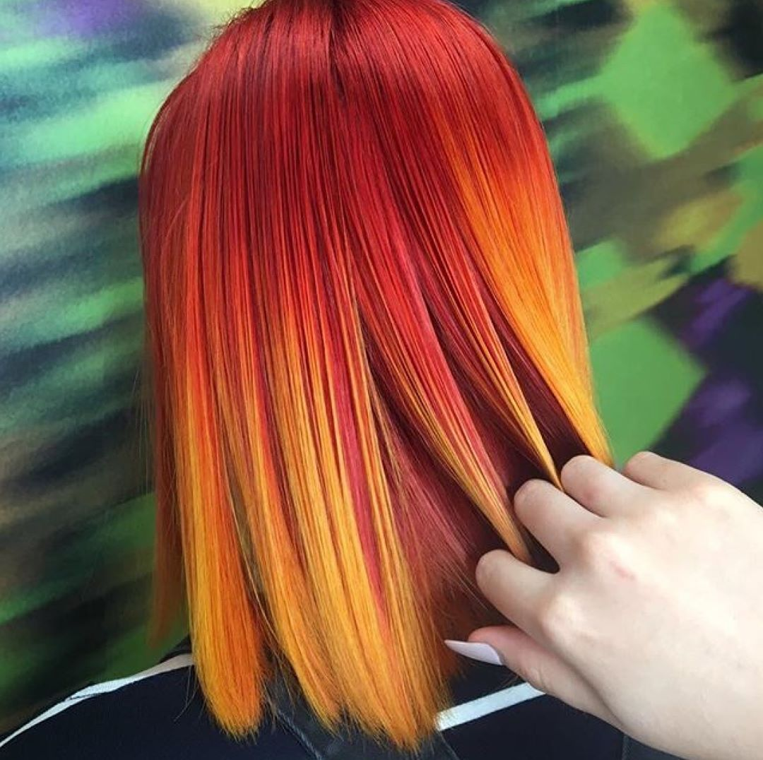 More colour from blowcolourbar hairenvy hairgoals redhead orangehair colouredhair professionalhairstylisthellip
