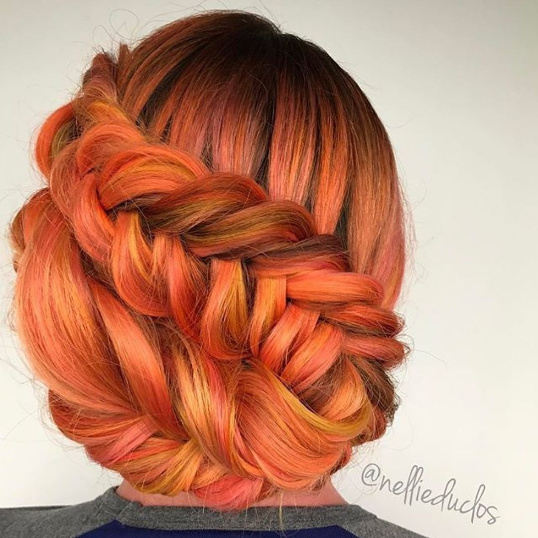 We love this fiery braid by nellieduclos