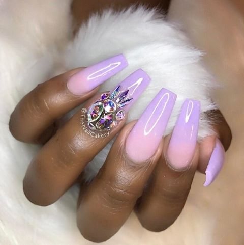We love this pastel ombre set by thenailcakery