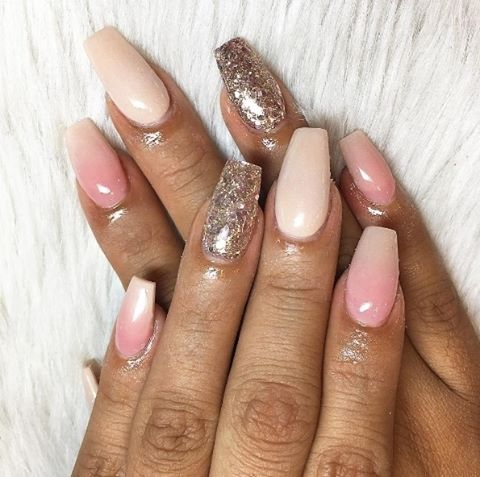 The perfect mix of glitter and nude on this amazinghellip