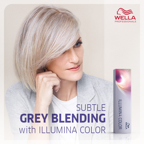 Subtle Grey Blending With Wella Illumina | Salons Direct