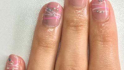How to create a Bracelet Nail Design using Gellux
