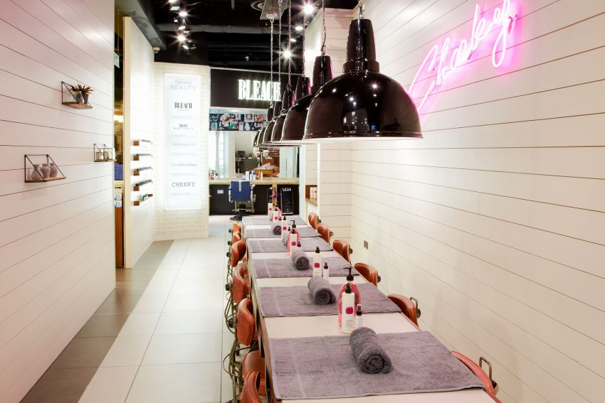 cheeky topshop manicure stations