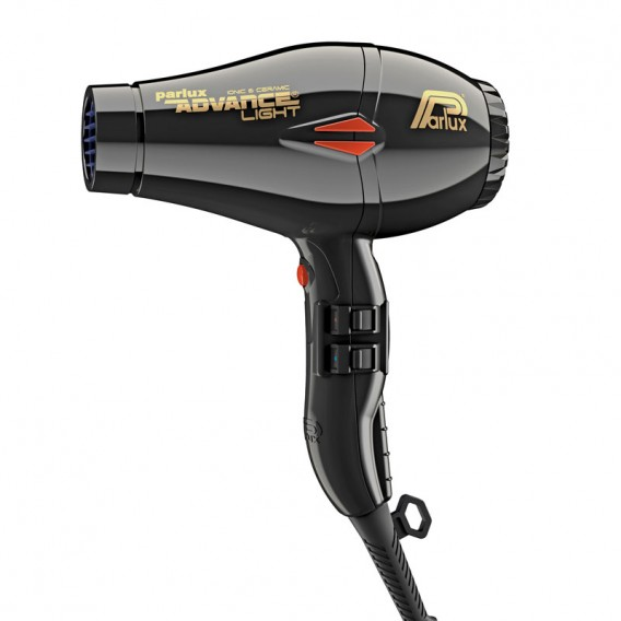 Parlux Advance Light Ionic + Ceramic Black Hairdryer