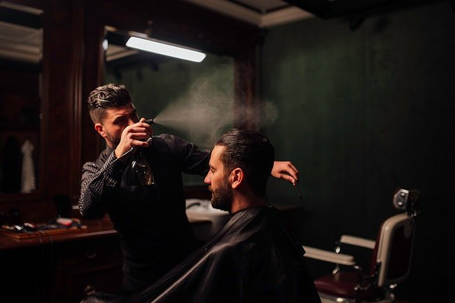 Stefan Avanzato 'master barber' at London's exclusive Dolce & Gabanna barbers based in Mayfair.
