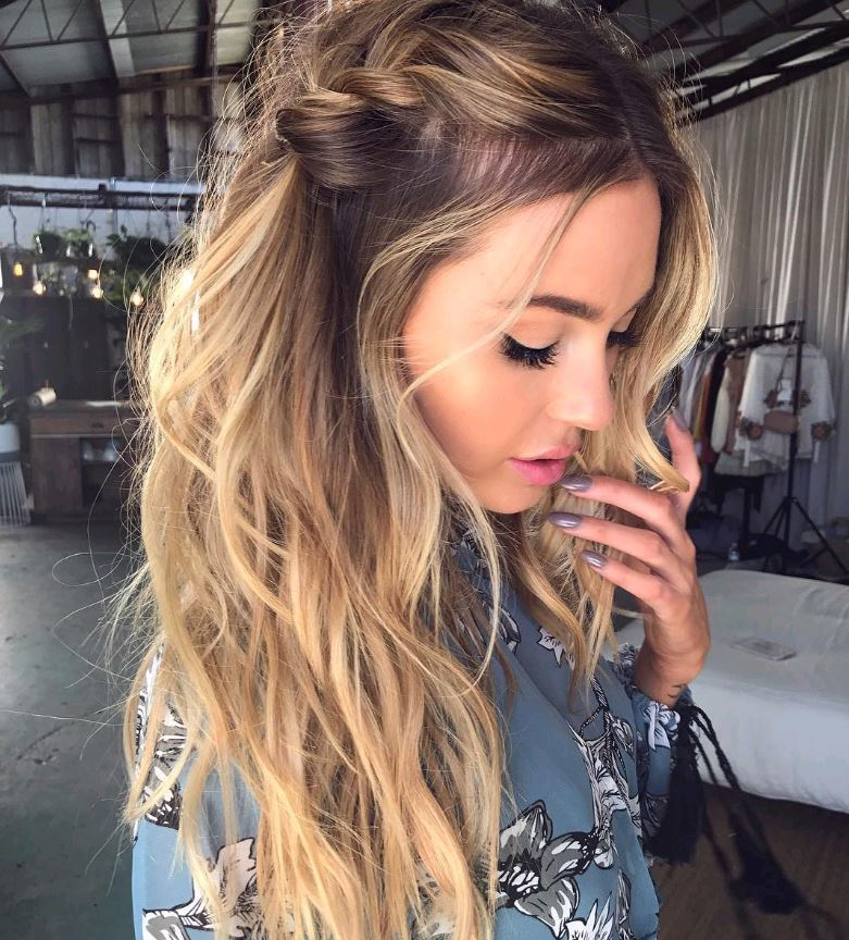 How beautiful is this ombre hair with an effortless braidhellip