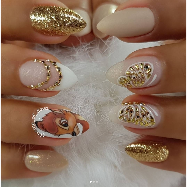 How amazing are these nails by homeofdeva in celebration ofhellip
