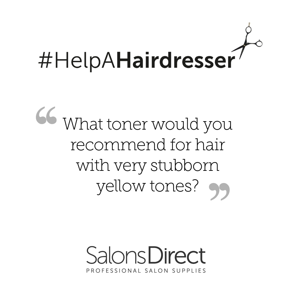 HELPAHAIRDRESSER Whats your go to toner to remove stubborn yellowhellip