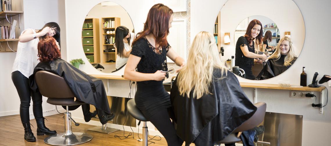 Salon Owner Working