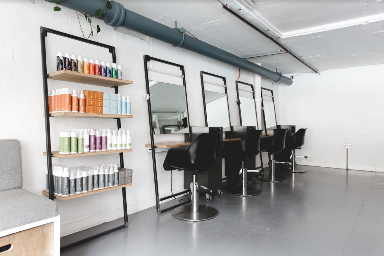 Glasshouse salon interior