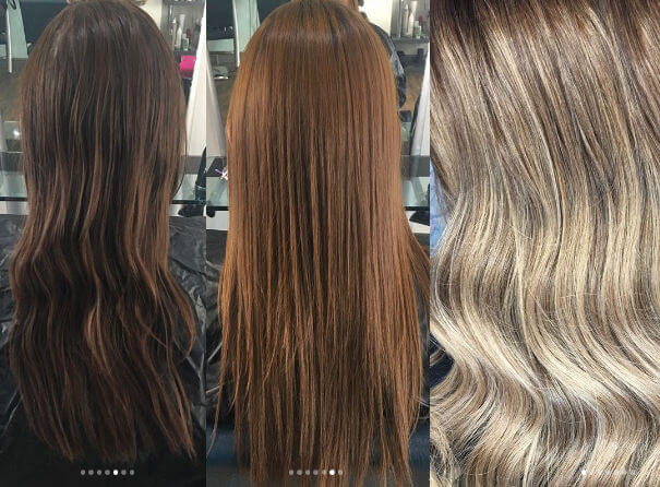 hair with colour removed by Zalon Pro London