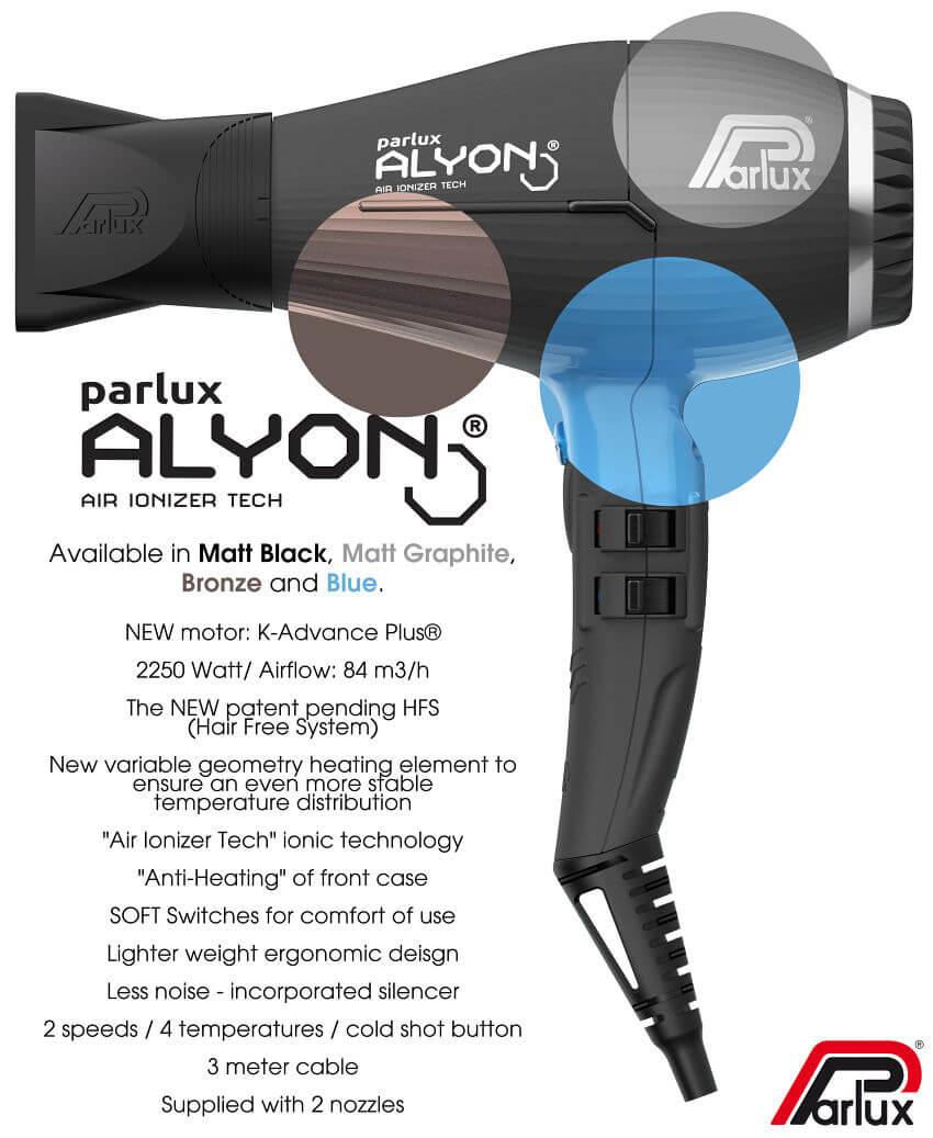 Parlux Alyon hair dryer information