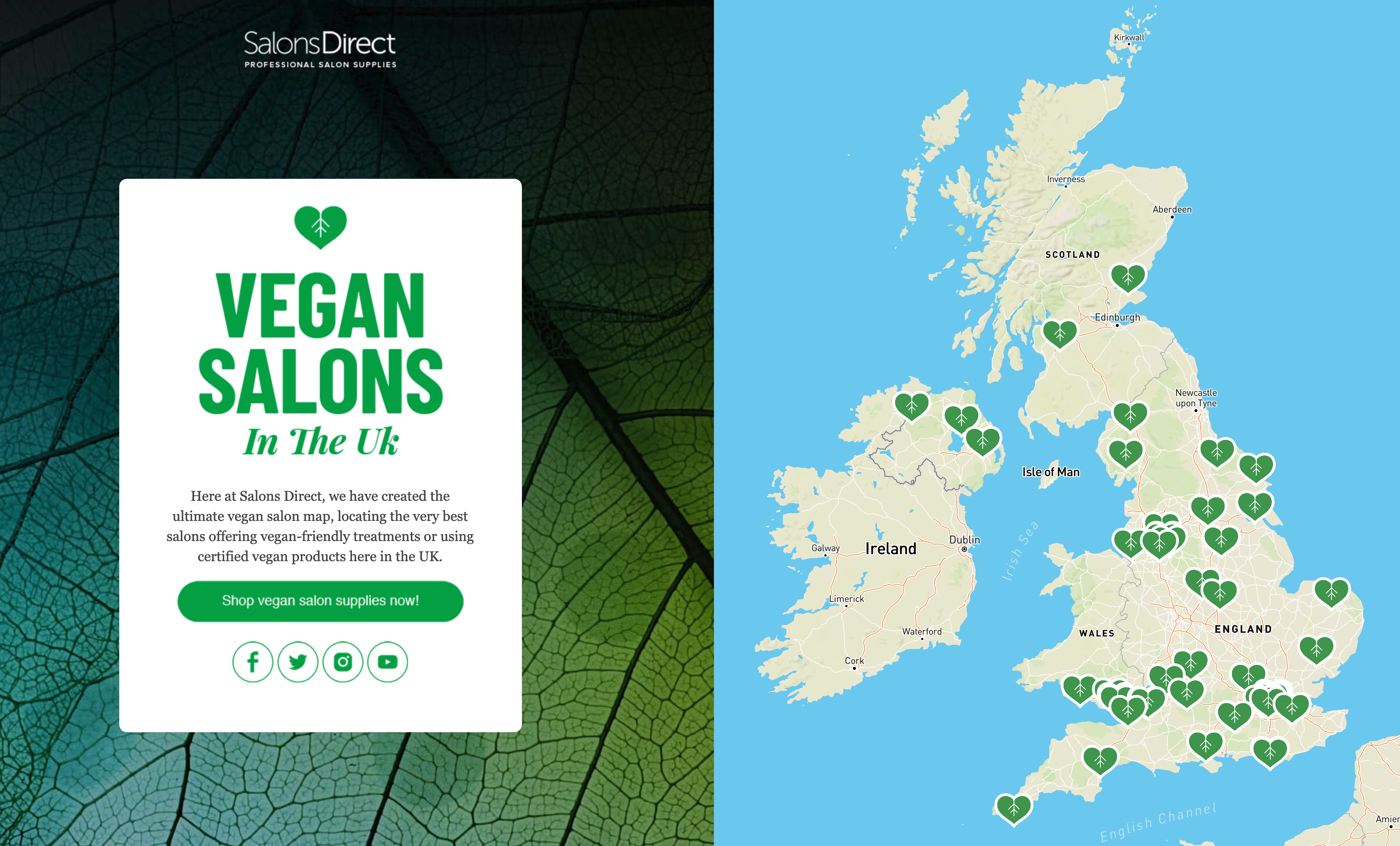 We've Launched A Vegan Salon Map Of The UK!   Salons Direct on