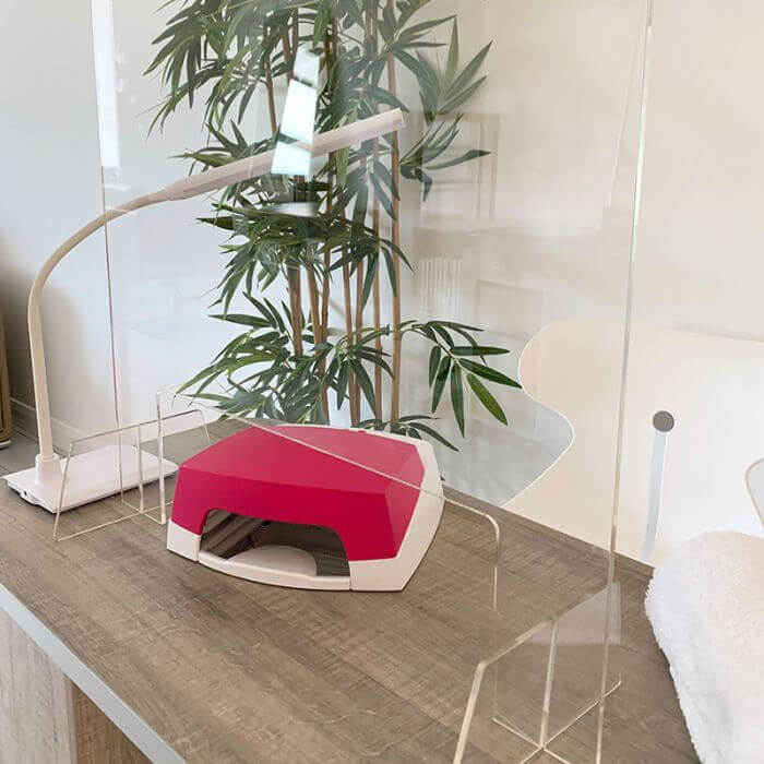 Clear Perspex Hygiene Screen Nail Salon