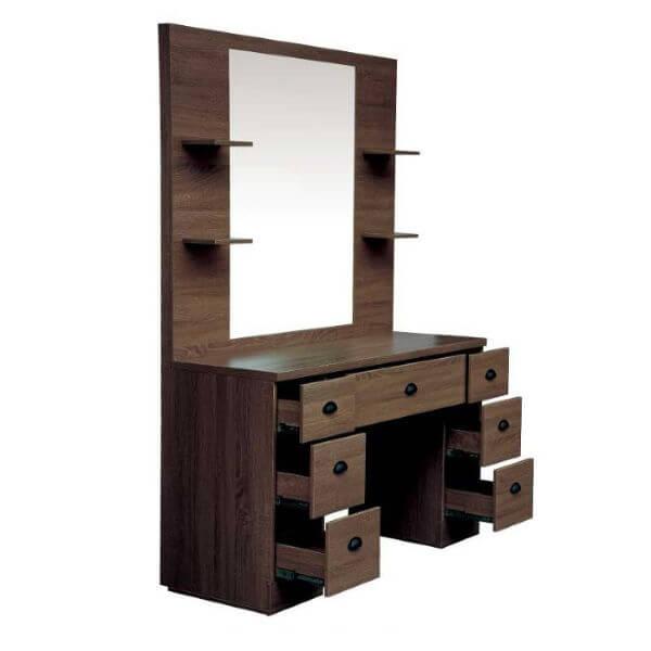 Lotus Ruben Mirror Unit Dark Wood