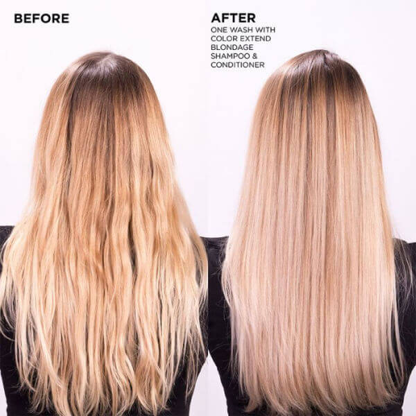 Redken Color Extend Blondage Shampoo before and after results