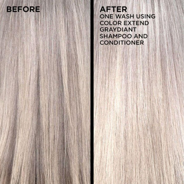 Redken Color Extend Graydiant Shampoo before and after results