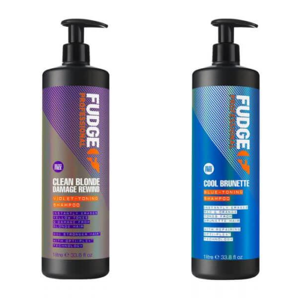 Fudge Professional Clean BLonde and Cool Brunette Shampoo