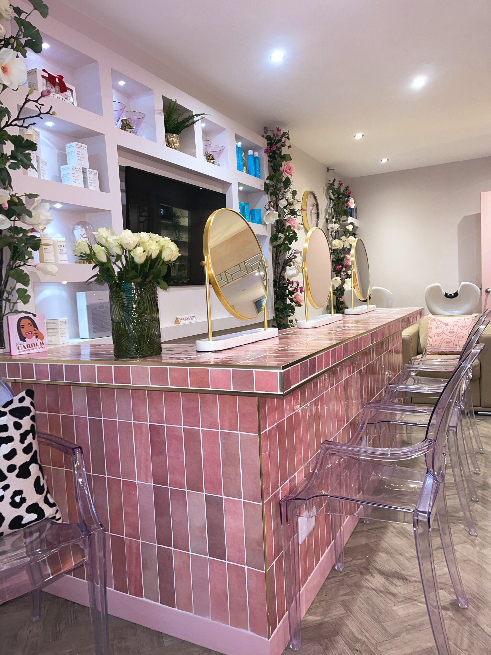 The blow dry bar is one of the most distinctive features of Wild Salon