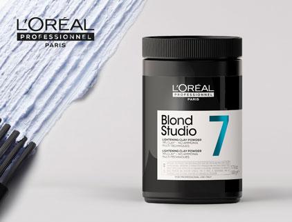 L'Oreal Blond Studio Clay Freehand Powder