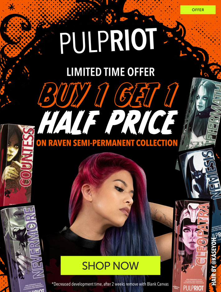 Pulp Riot Raven Collection Offer