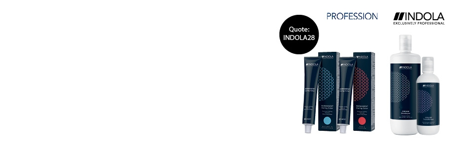 Buy 4 tubes of Indola Profession, 4% developer and Colour Transformer for £28. Quote INDOLA28.