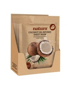 natura Coconut Oil Infused Sheet Mask Display Box of 12