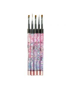 Glitterbels Gel Art Brush Set x 5 Brushes