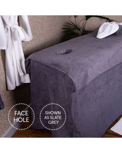 BC Softwear SupremeSoft Couch Cover With Face Hole Pebble 70 x 200cm