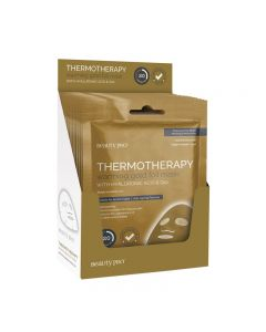 BeautyPro THERMOTHERAPY Warming Gold Foil Mask With Hyaluronic Acid And Q10 Box Of 12