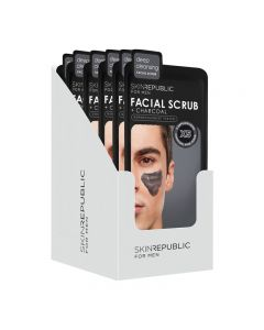 Skin Republic Men's Charcoal Facial Scrub 25ml Pack of 10