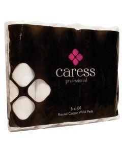 Caress Professional Round Cotton Wool Pads x 500