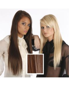Universal 18in Medium Brown/Light Brown/Golden Blonde Mix P6/12/24 Clip in Human Hair Extension 105g